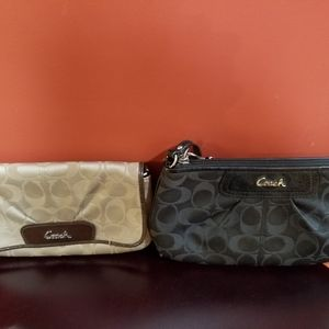 Used /Coach wristlet $12 each or 2 for $20